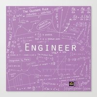 engineer Canvas Prints featuring Purple - ENGINEER by Be Raza