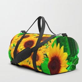 SPRING GREEN EMERALDS & YELLOW FLOWERS  ART Duffle Bag