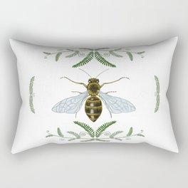 Honey Bee with Ferns Rectangular Pillow