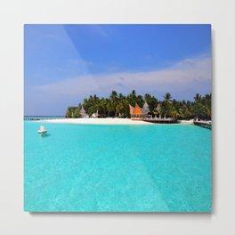 Maldives Beach Metal Print
