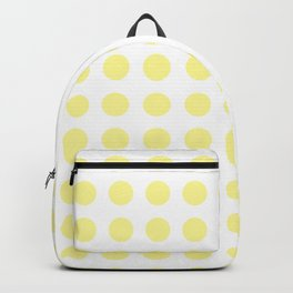 Simply Polka Dots in Pastel Yellow Backpack