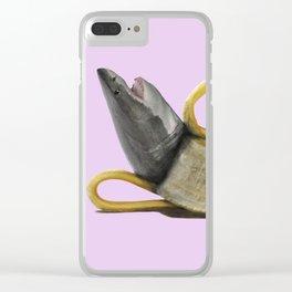 Strawberry Banana Shark Clear iPhone Case