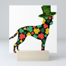 Happy St Patrick's Day !   Brazilian terrier (Terrier brasileiro) dog, Animals Mini Art Print