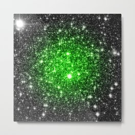 galAxy. Stars Lime Green Metal Print