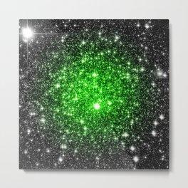 galAxy. Stars Lime Green Metal Print