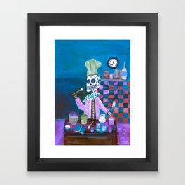 Day of the Dead Chef  Framed Art Print