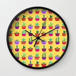 Thorns in colors Wall Clock