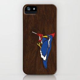 Modern Day Woodpecker iPhone Case