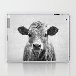 Cow 2 - Black & White Laptop & iPad Skin