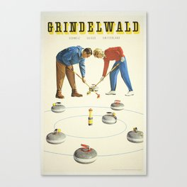 Grindelwald, Swiss Vintage Travel poster Canvas Print