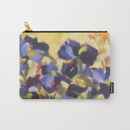 Beautiful Blue Iris Carry-All Pouch