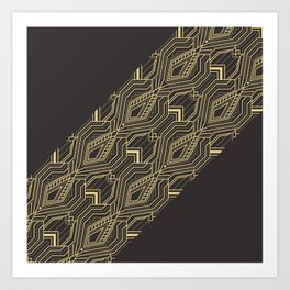 Art Deco Geometric Glam Art Print