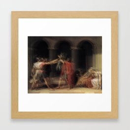 Glitch of the Horatii Framed Art Print