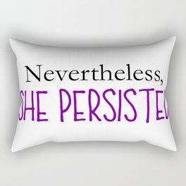 Nevertheless, She Persisted - Purple Rectangular Pillow