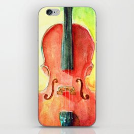 Cello in Red iPhone Skin