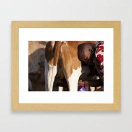Morning Milk Framed Art Print