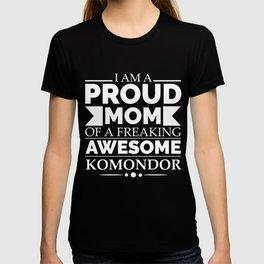 Proud mom komondor Dog Mom Owner Mother's Day T-shirt