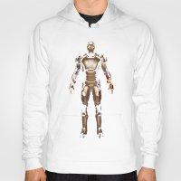 iron man Hoodies featuring Iron Man  by George Hatzis