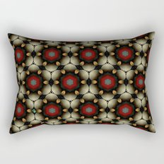 Metallic Deco Little Leaves Rectangular Pillow
