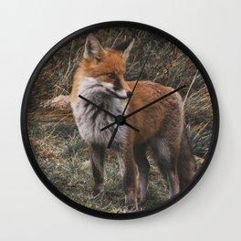 Feelin' Foxy Wall Clock