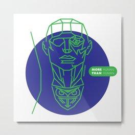 Nexus 6 Green Metal Print