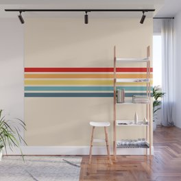 Takaakira - Classic Rainbow Retro Stripes Wall Mural