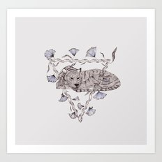 Tigers Sleeping Art Print