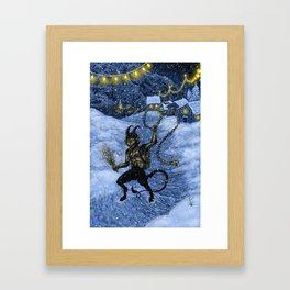 Gruss vom Krampus! Framed Art Print