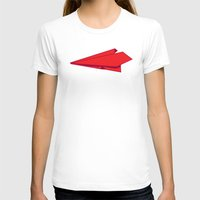 plane T-shirts featuring Paper plane by Becky Gibson