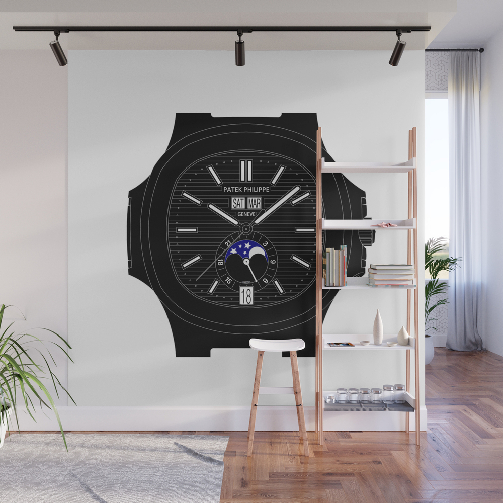 Patek Philippe - Nautilus - 5726 - Black Version Wall Mural by Bcpwatches