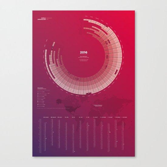 Bureau Oberhaeuser Calendar 2016 purple, english by oberhaeuserinfo