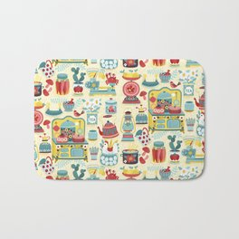 Hobby Kitchen Illustration Pattern Bath Mat