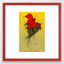 Chinese Zodiac Rooster Framed Art Print