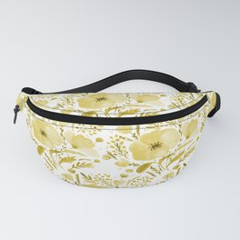 Flower bouquet with poppies - yellow Fanny Pack