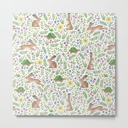 Spring Time Tortoises and Hares Metal Print