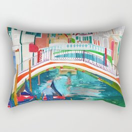 Canal in Venice Rectangular Pillow