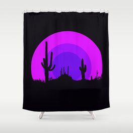 psychedelic desert Shower Curtain