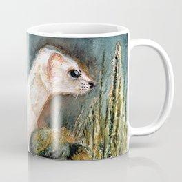 Winter stoat watercolor Coffee Mug