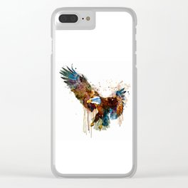 Free and Deadly Eagle Clear iPhone Case