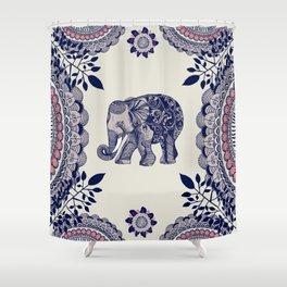 Elephant Pink Shower Curtain