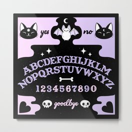 Cute Ouija // Pastel Metal Print