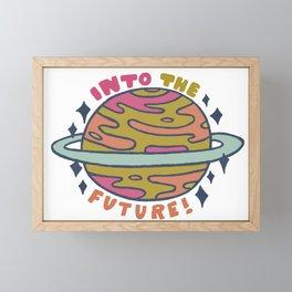 Into the future! Framed Mini Art Print