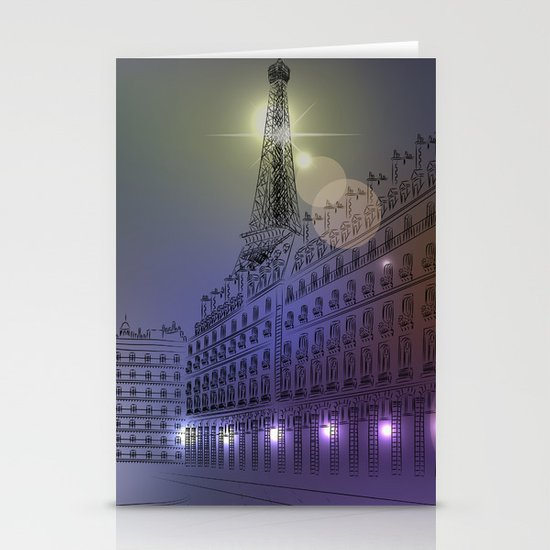 Parisian Nights Stationery Cards