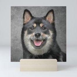 Drawing Japanese Shiba Inu dog Mini Art Print