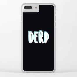 Derp Alert Clear iPhone Case