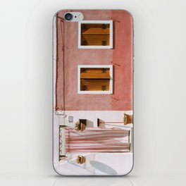 Sunny pink house iPhone Skin