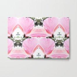 Pink Petal Shapes Metal Print