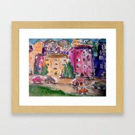 Crooked City Framed Art Print