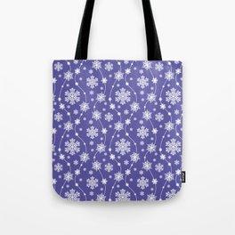 Purple Holiday Snowflake Pattern Tote Bag