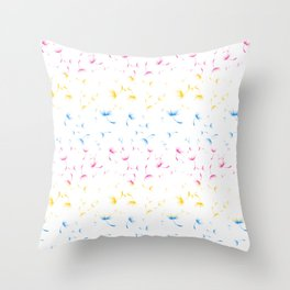 Dandelion Seeds Pansexual Pride (white background) Throw Pillow